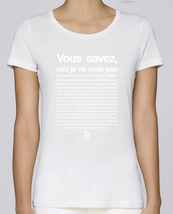 T-shirt Femme Stella Loves Citation Scribe Astérix par tunetoo