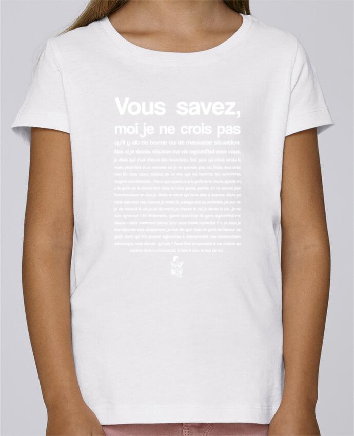 T-shirt Fille Mini Stella Draws Citation Scribe Astérix par tunetoo