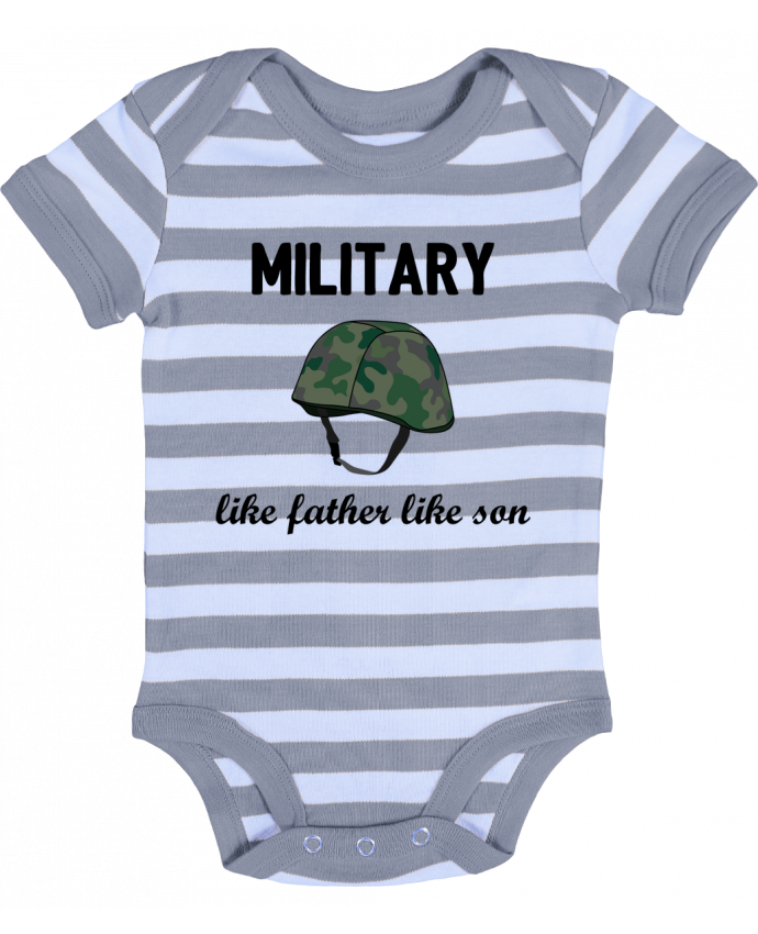 Body Bébé à Rayures Military Like father like son - tunetoo