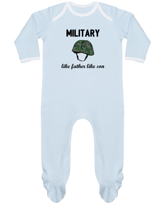 Pyjama Bébé Manches Longues Contrasté Military Like father like son par tunetoo