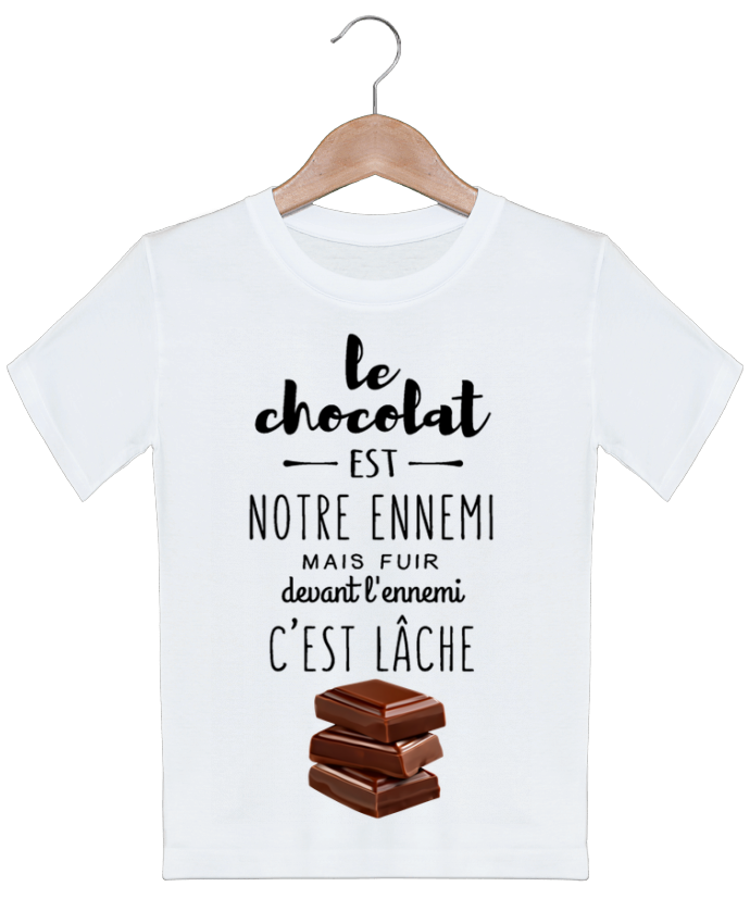 T-shirt garçon motif chocolat DesignMe