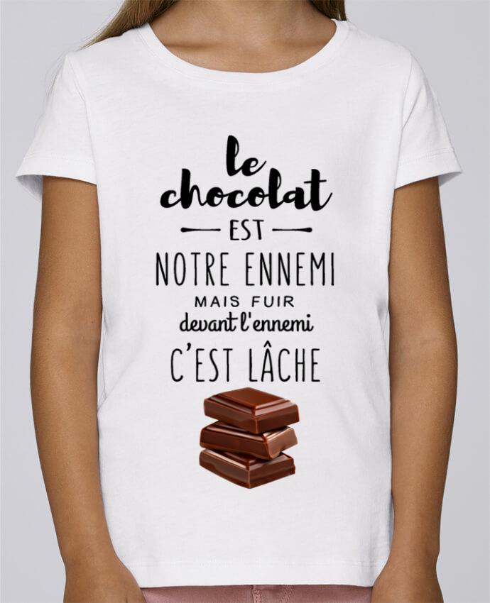 T-shirt Fille Mini Stella Draws chocolat par DesignMe