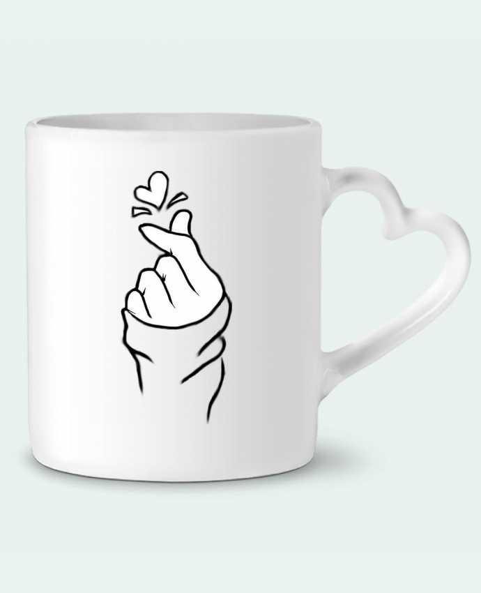 Mug Coeur love par DesignMe