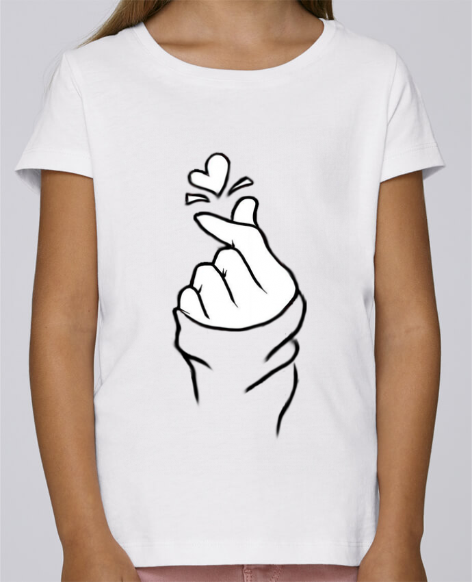 T-shirt Fille Mini Stella Draws love par DesignMe
