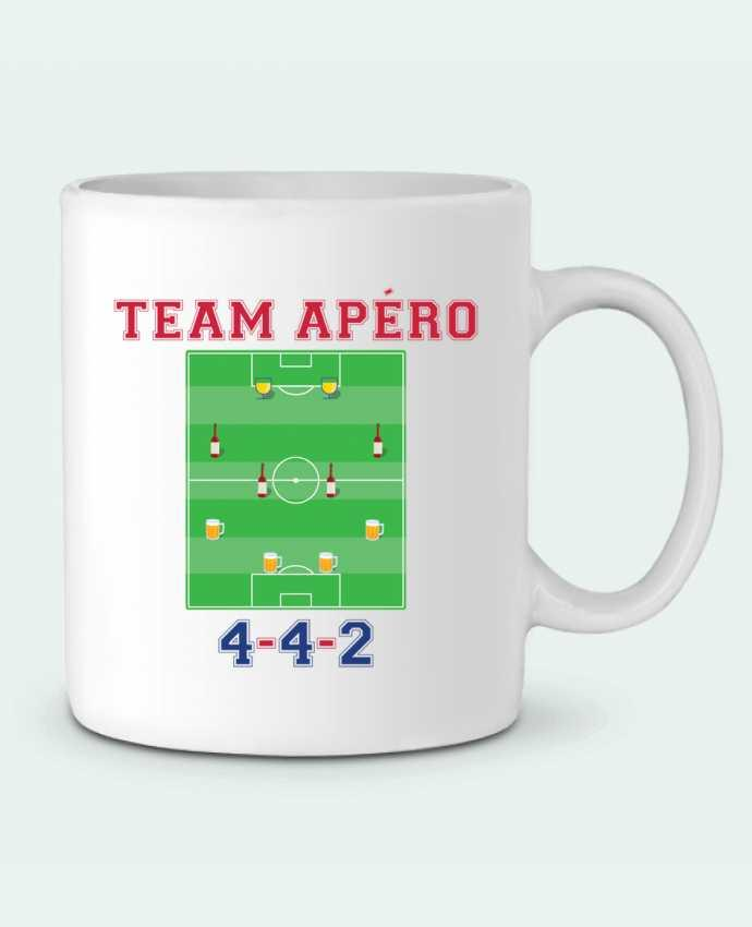 Mug en Céramique Team apéro football par tunetoo
