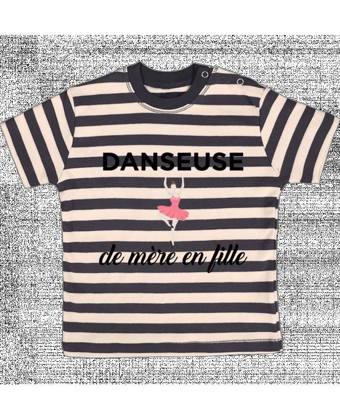 T-shirt Bébé à Rayures Danseuse de mère en fille par tunetoo