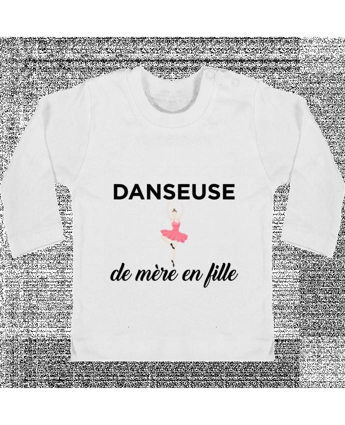 T-shirt Bébé Manches Longues Boutons Pression Danseuse de mère en fille manches longues du designer tunetoo