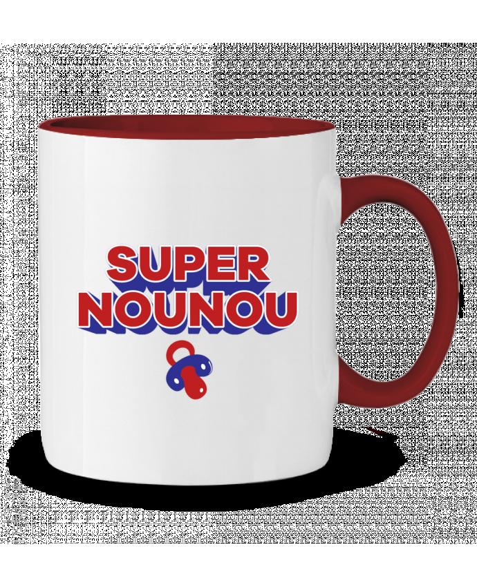Mug en Céramique Bicolore Super nounou tunetoo