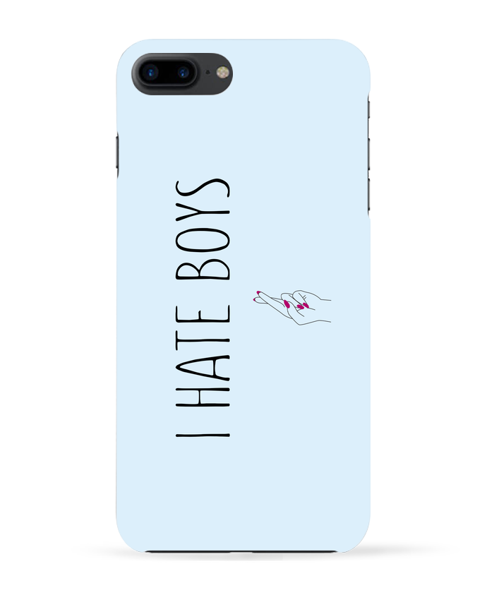 Coque 3D Iphone 7+ I hate boys par tunetoo