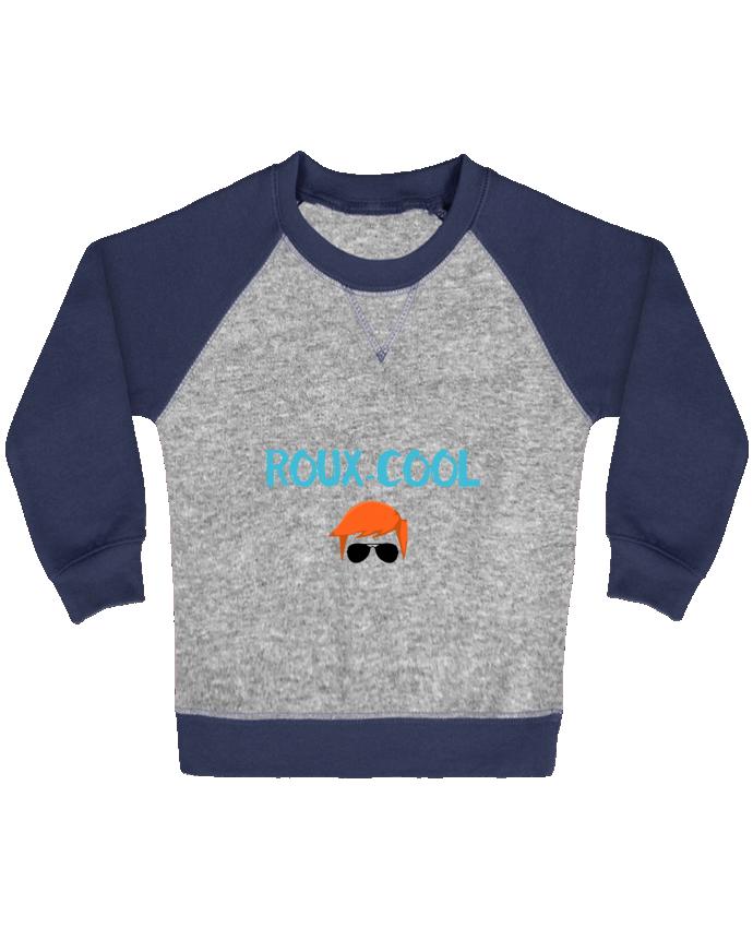 Sweat Shirt Bébé Col Rond Manches Raglan Contrastées Roux-cool par tunetoo