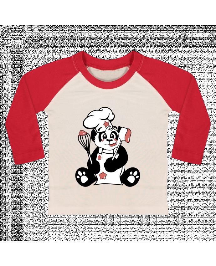 T-shirt Bébé Baseball Manches Longues Panda Pot'Chef par CoeurDeChoux
