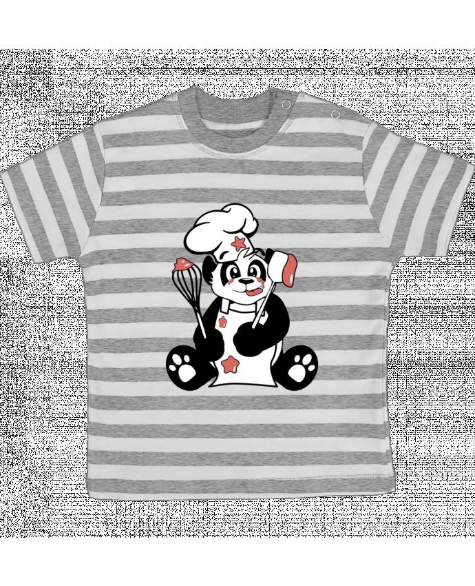 T-shirt Bébé à Rayures Panda Pot'Chef par CoeurDeChoux