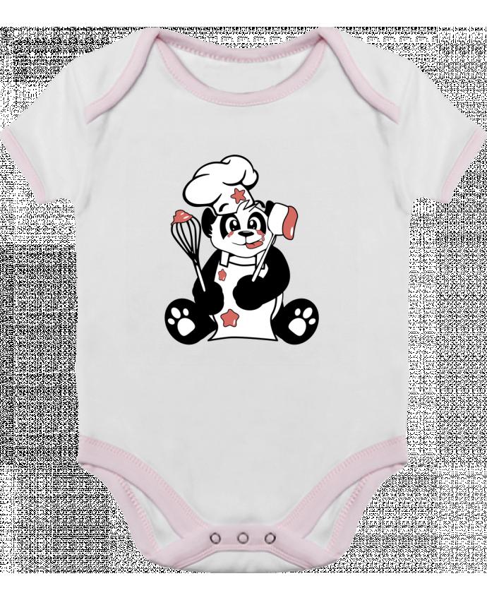 Body Bébé Contrasté Panda Pot'Chef par CoeurDeChoux