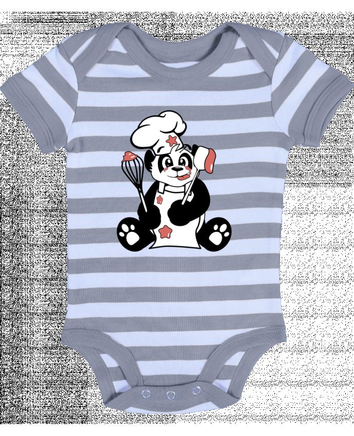 Body Bébé à Rayures Panda Pot'Chef - CoeurDeChoux
