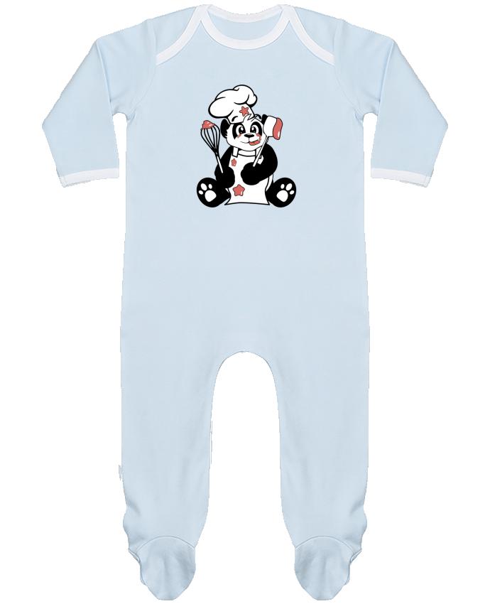 Pyjama Bébé Manches Longues Contrasté Panda Pot'Chef par CoeurDeChoux