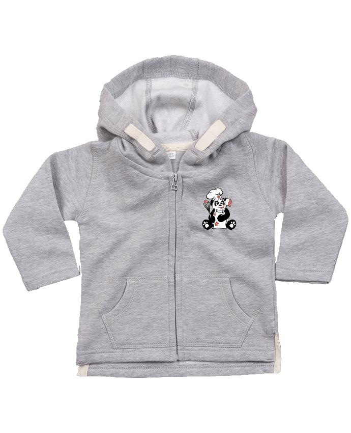 Sweat Bébé Zippé à Capuche Panda Pot'Chef par CoeurDeChoux