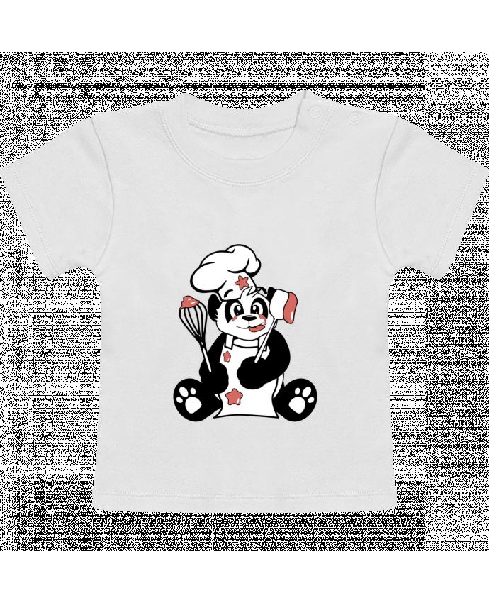 T-Shirt Bébé Manches Courtes Panda Pot'Chef manches courtes du designer CoeurDeChoux