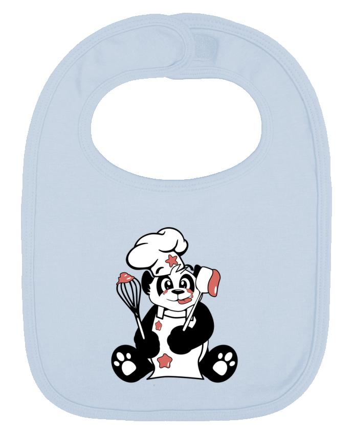 Bavoir Uni et Contrasté Panda Pot'Chef par CoeurDeChoux