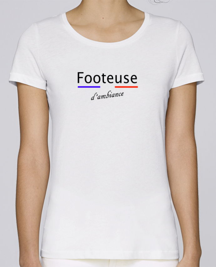 T-shirt Femme Stella Loves Footeuse d'ambiance par Tee Smiles