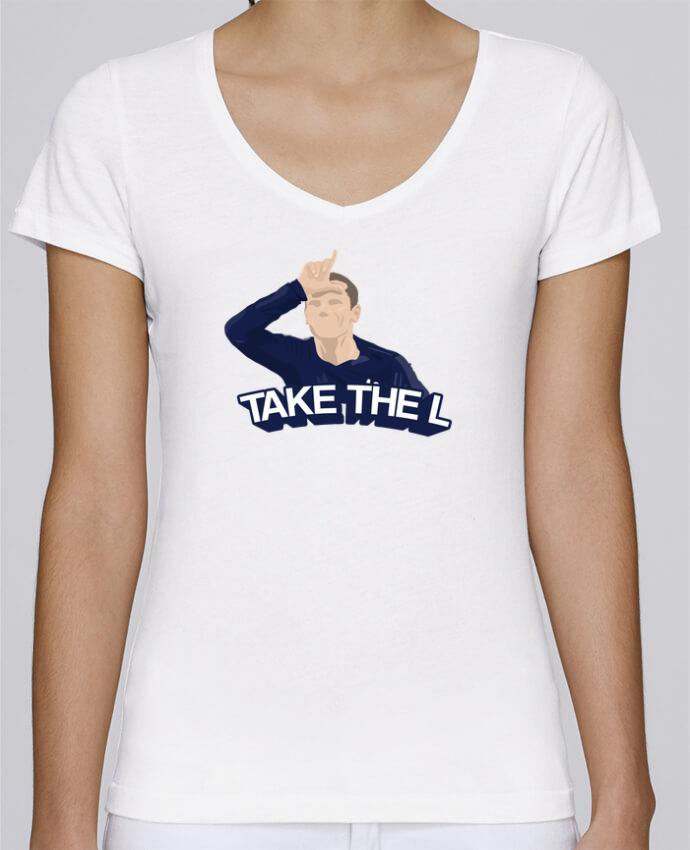 T-shirt Femme Col V Stella Chooses Griezmann célébration fortnite par tunetoo
