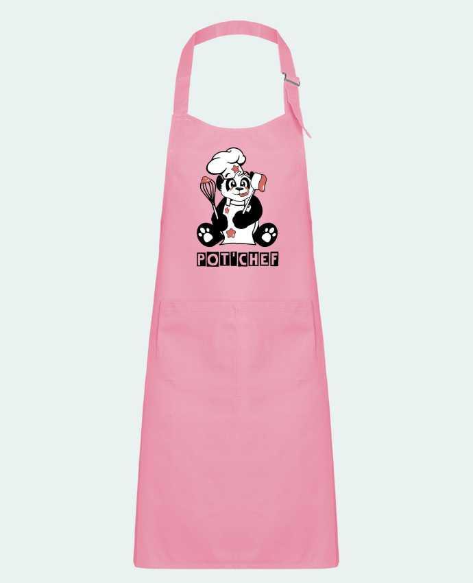 Tablier Enfant avec Poche Panda Pot'Chef - Typo par CoeurDeChoux