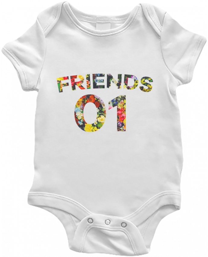 Body Bébé BEST FRIENDS FLOWER 2 par tunetoo