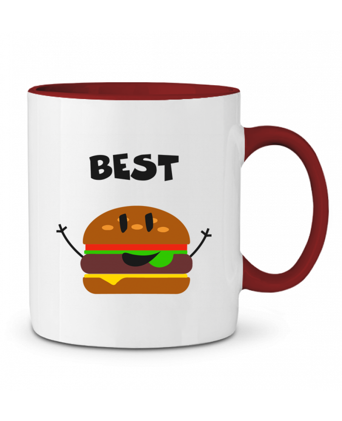 Mug en Céramique Bicolore BEST FRIENDS BURGER 1 tunetoo