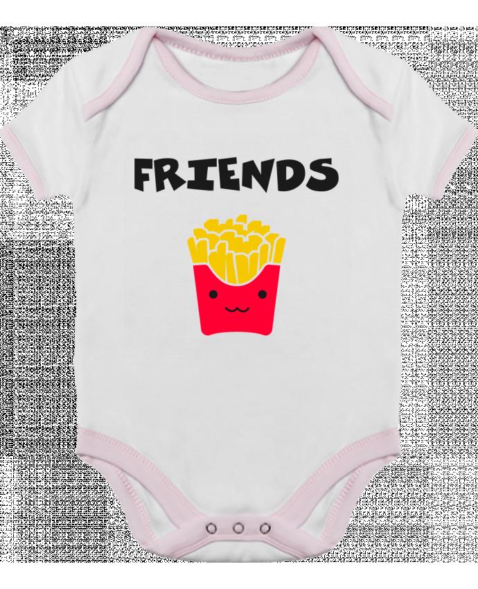 Body Bébé Contrasté BEST FRIENDS FRIES par tunetoo