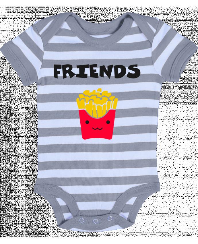 Body Bébé à Rayures BEST FRIENDS FRIES - tunetoo