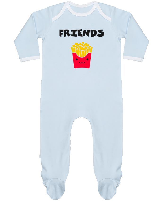 Pyjama Bébé Manches Longues Contrasté BEST FRIENDS FRIES par tunetoo
