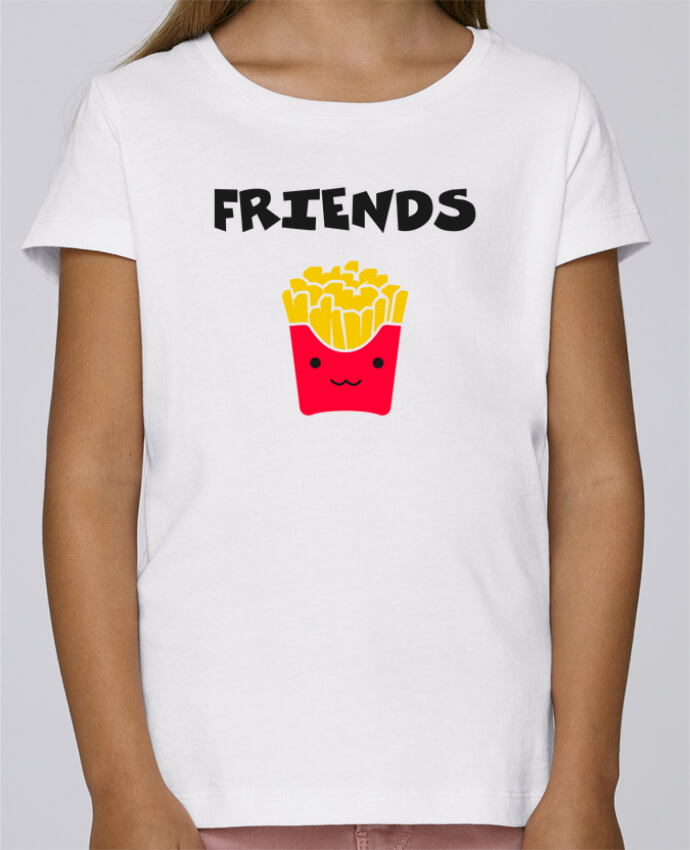 T-shirt Fille Mini Stella Draws BEST FRIENDS FRIES par tunetoo