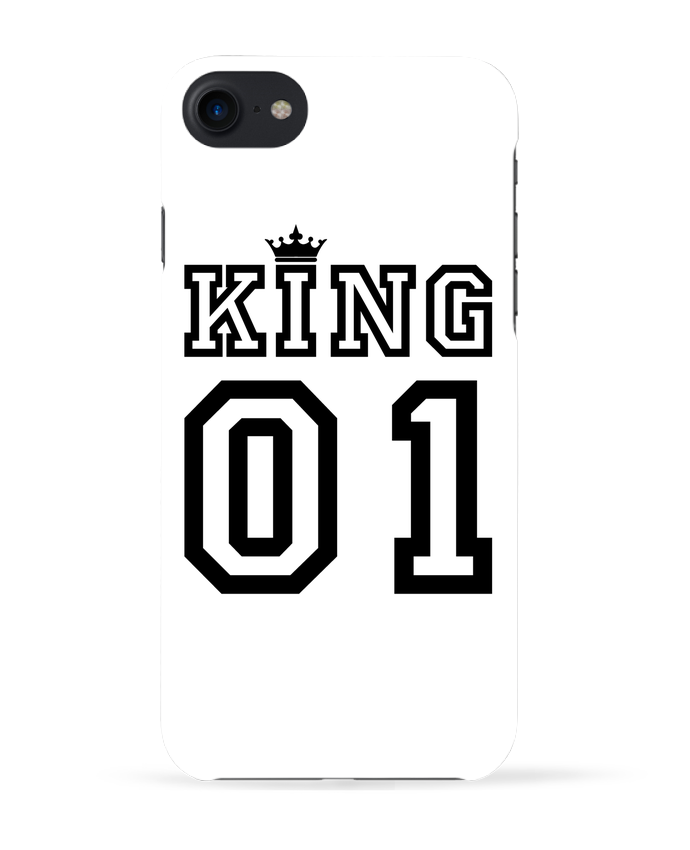 3098460 coque 3d iphone 7 blanc king 01 by tunetoo