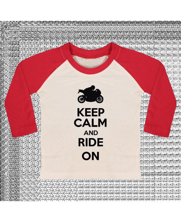 T-shirt Bébé Baseball Manches Longues Keep calm Moto par Original t-shirt