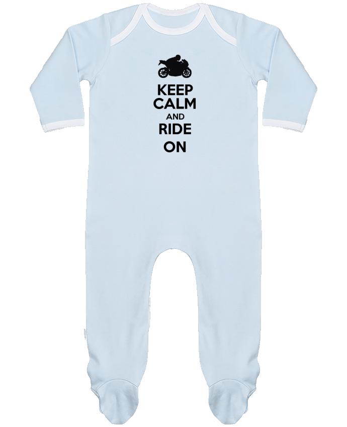 Pyjama Bébé Manches Longues Contrasté Keep calm Moto par Original t-shirt