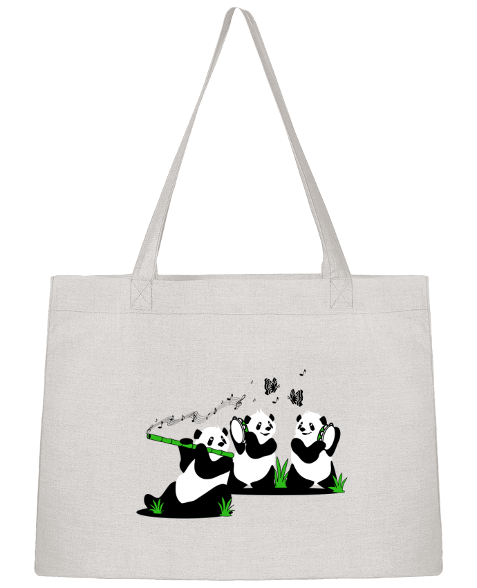 Sac Cabas Shopping Stanley Stella panda's band par CoeurDeChoux