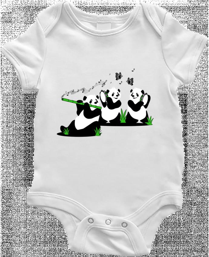 Body Bébé panda's band par CoeurDeChoux