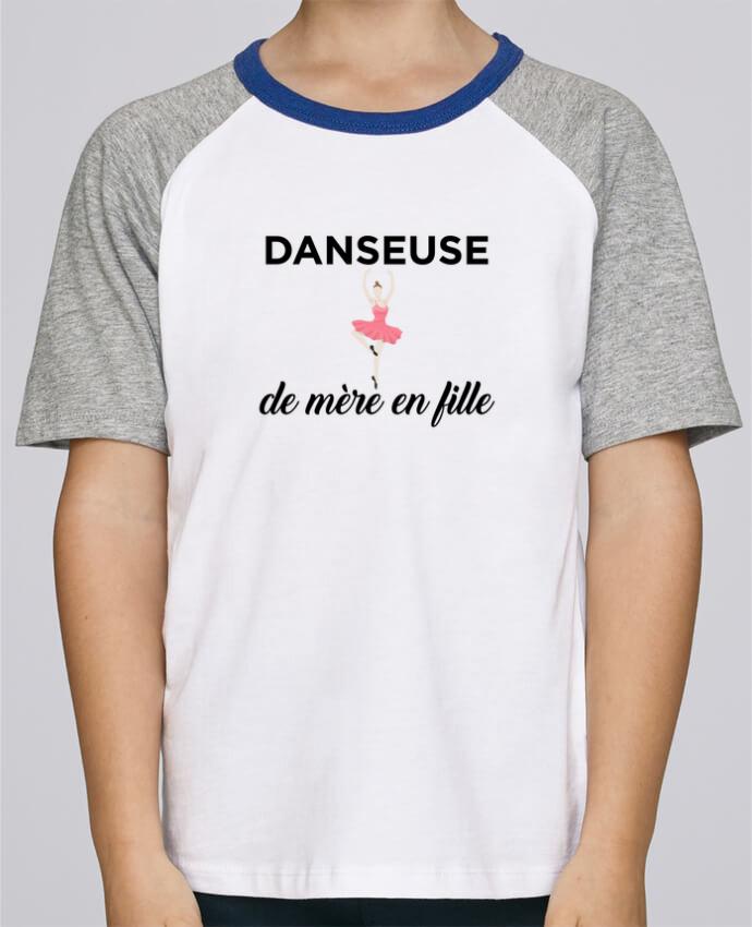 T-shirt fille Baseball Danseuse de mère en fille par tunetoo