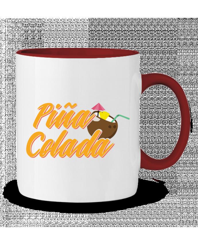 Mug en Céramique Bicolore Pina Colada tunetoo