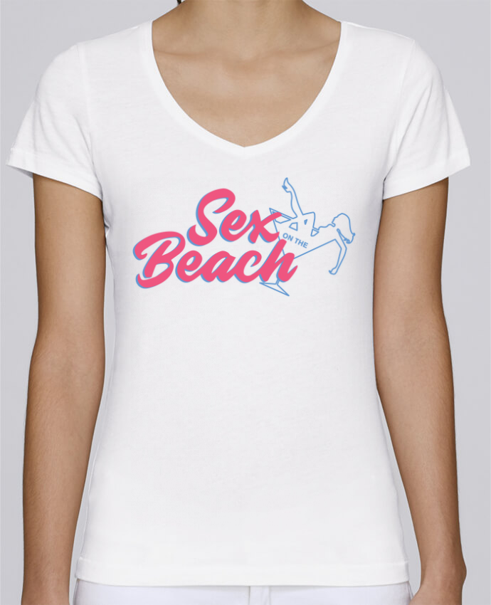 T-shirt Femme Col V Stella Chooses Sex on the beach cocktail par tunetoo