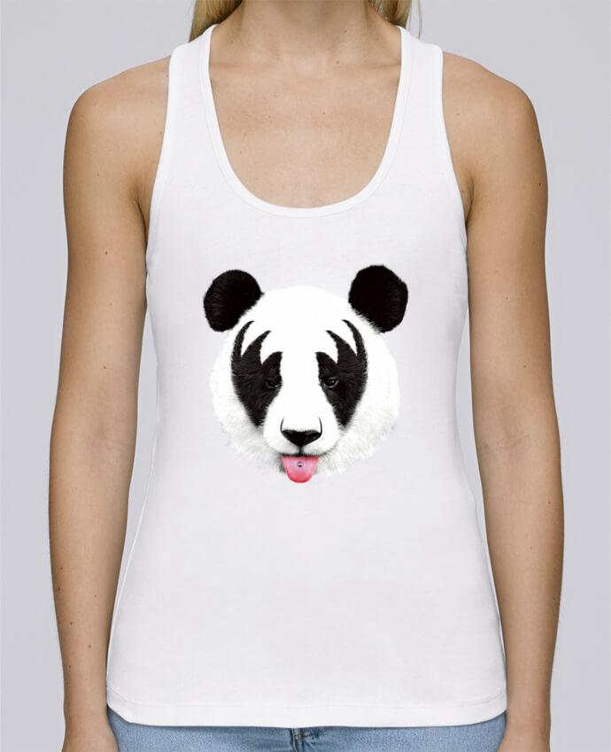 Débardeur bio femme Stella Dreams Kiss of a panda par robertfarkas en coton Bio