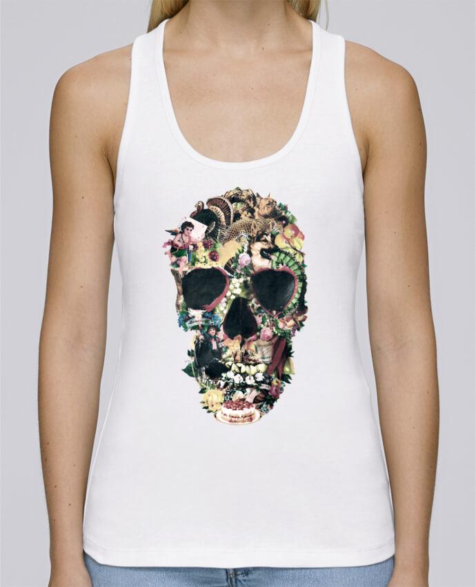 Débardeur bio femme Stella Dreams Vintage Skull par ali_gulec en coton Bio