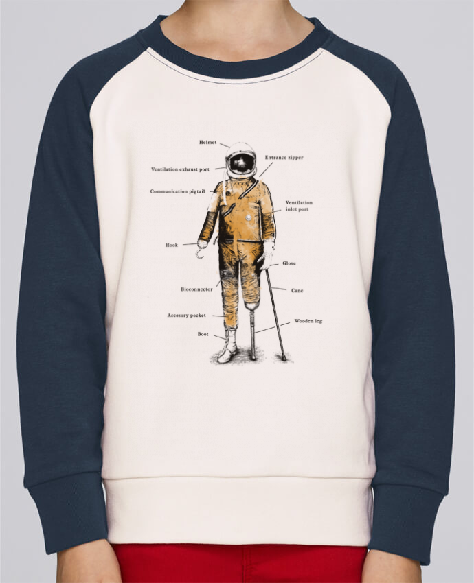 Sweat petite fille Astropirate with text par Florent Bodart