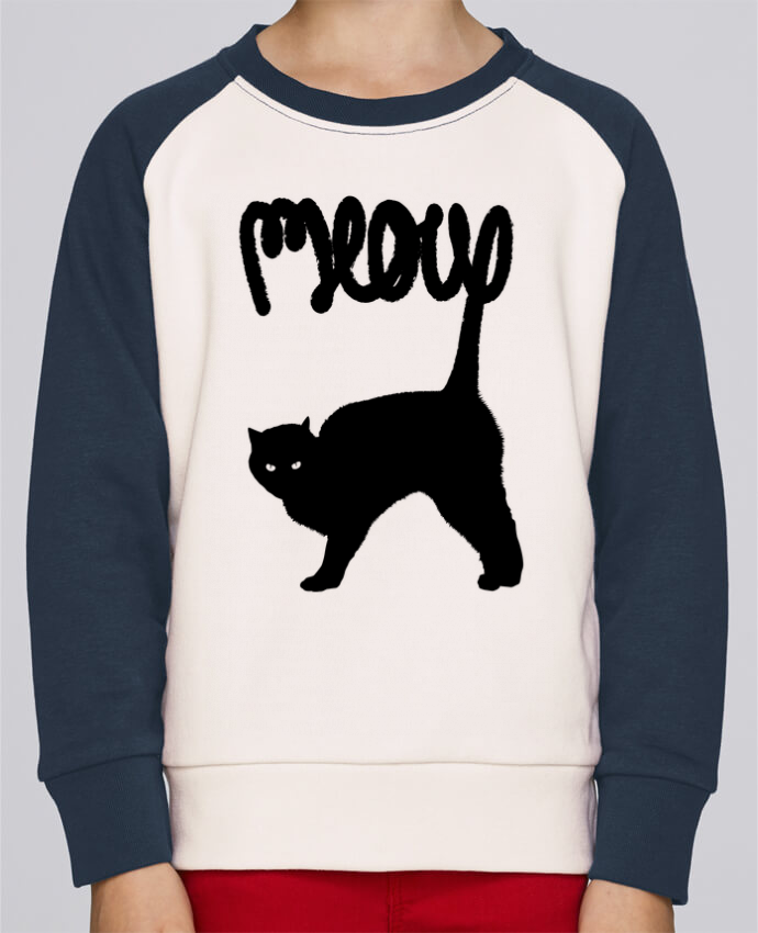 Sweat petite fille Meow par Florent Bodart