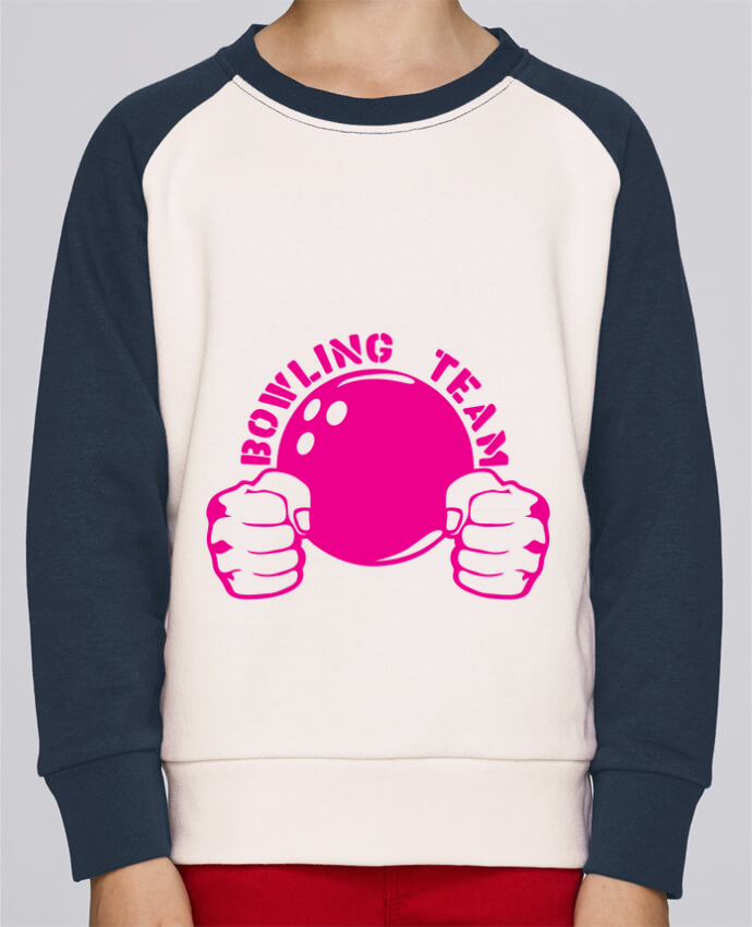 Sweat petite fille bowling team poing fermer logo club par Achille