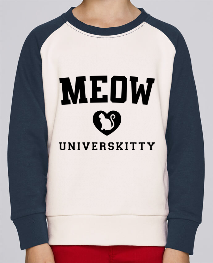 Sweat petite fille Meow Universkitty par Freeyourshirt.com