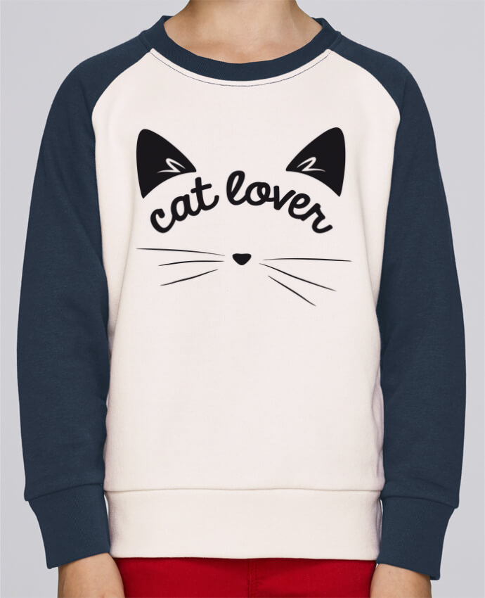 Sweat petite fille Cat lover par FRENCHUP-MAYO