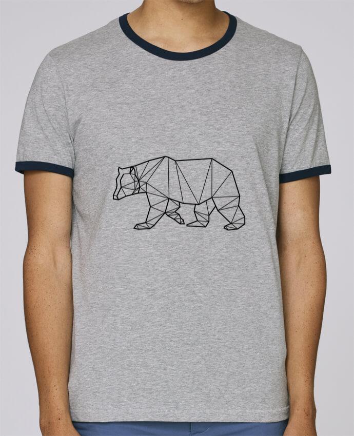 T-Shirt Ringer Contrasté Homme Stanley Holds Bear Animal Prism pour femme par Yorkmout