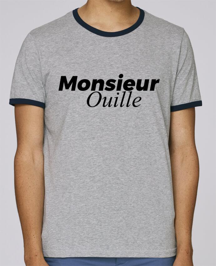T-Shirt Ringer Contrasté Homme Stanley Holds Monsieur Ouille pour femme par tunetoo