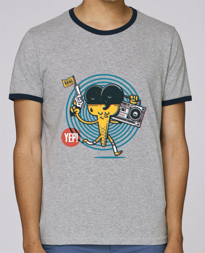T-Shirt Ringer Contrasté Homme Stanley Holds YEP! Ice Cream pour femme par YEP!