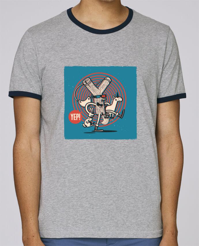 T-Shirt Ringer Contrasté Homme Stanley Holds YEP! Lance Pierre 3D pour femme par YEP!